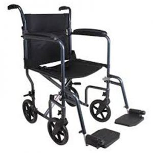 Rental Transport Chair – Leg Rests – Lightweight